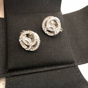 SOLD Brand new authentic Chanel earrings/silver